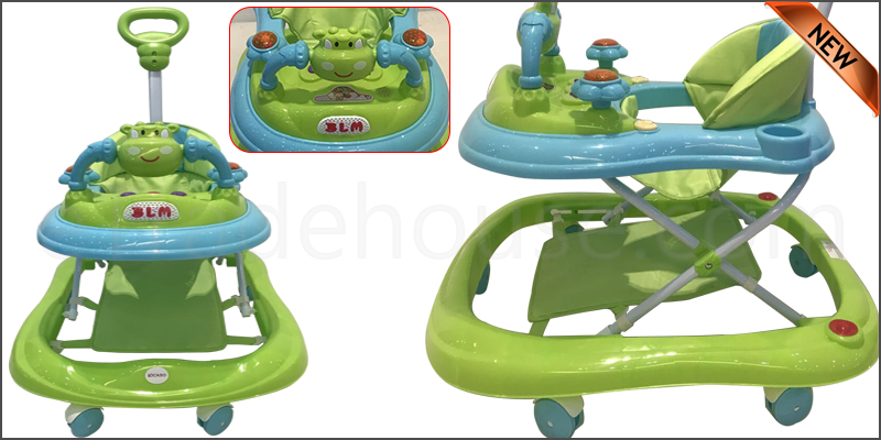Baby Walker First Steps Activity Bouncer Musical Toy Push Along Ride On Bright