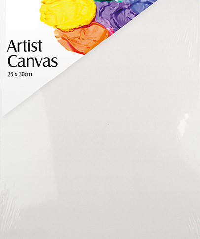 25cm x 30cm Blank Artist Canvas Art Board Plain Painting Stretched Framed White