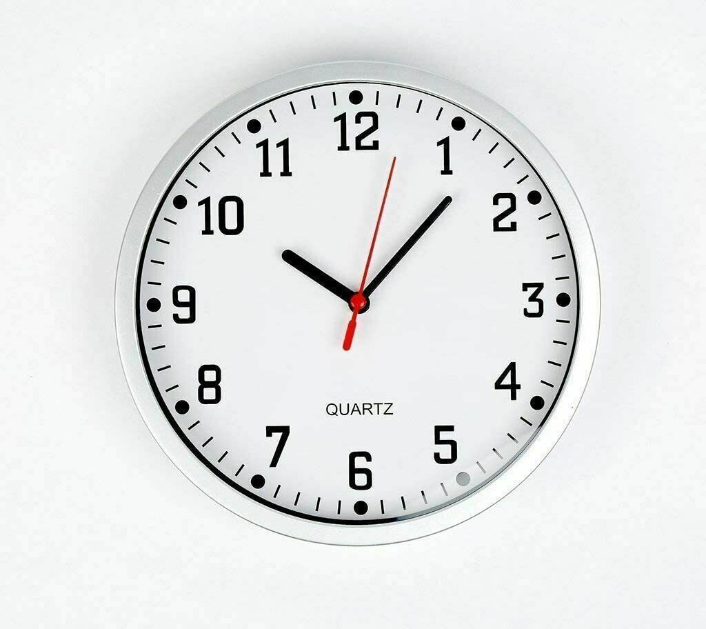 White Wall Clock Large Vintage Round Modern Home Office Bedroom Time Kitchen Quartz