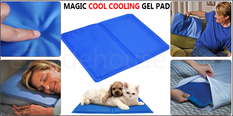 Blue Cooling Gel Pillow Chilled Natural Comfort Sleeping Aid Body Cool Bed Mat Pad