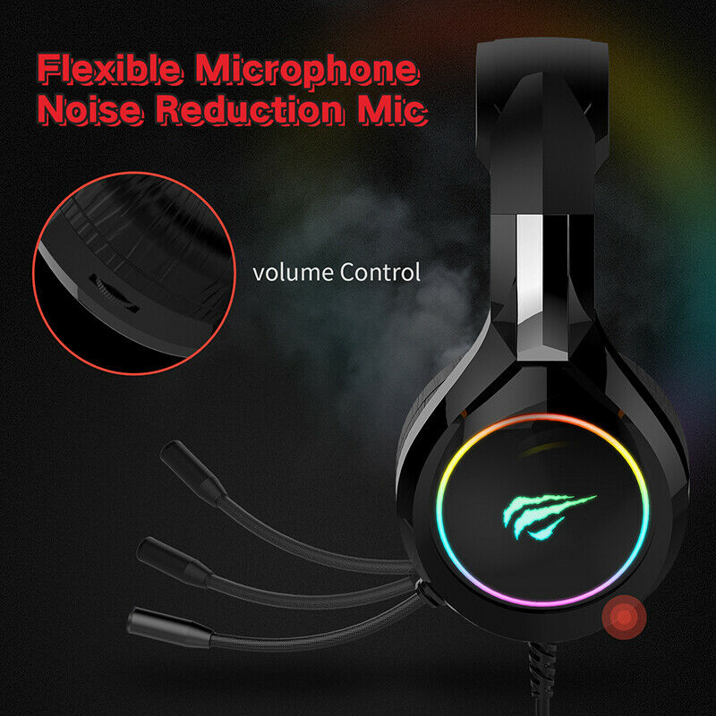 Havit Rgb Wired Gaming Headset Pc Usb 3.5Mm Xbox One Ps4 Headsets Laptop