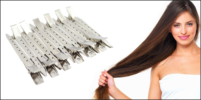 24 Pieces Metal Hair Sectioning 90Mm Clips