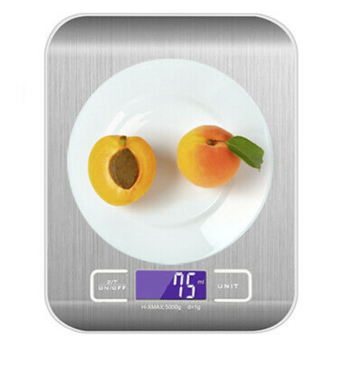 10Kg Digital Lcd Electronic Kitchen Household Weighing Food Cooking Scales Steel