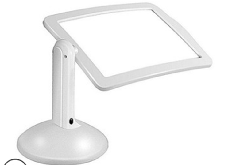 Large Led Magnifying Glass Stand With Light Lamp Hands Magnifier Foldable Clamp