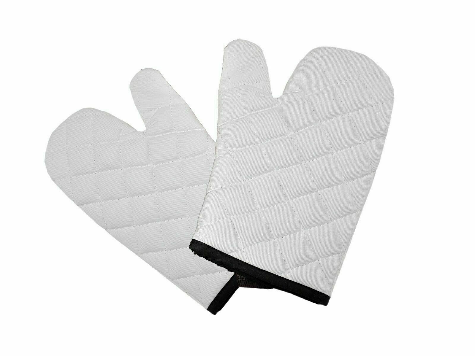1 Pair Oven Gloves Heat Resistant Quilted Mitts Skin Friendly For Cooking Baking
