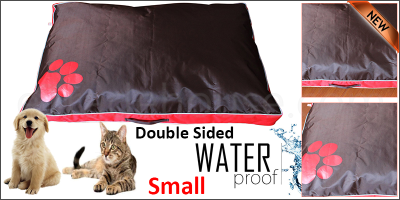 Small Red Double Sided Waterproof Dog Pet Cat Bed Mat Cushion Mattress Washable Cover