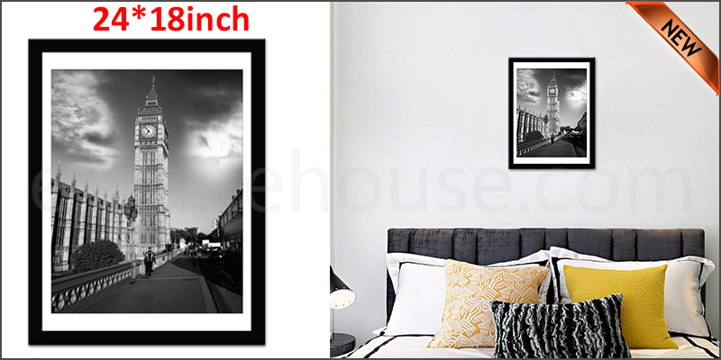 24 Inch By 18 Inch Black Photo Frame White Picture Frame Poster Frames