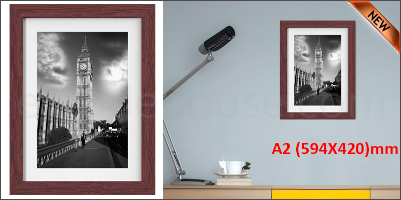 A2 WALNUT Photo Frame White Picture Frame Poster Frames