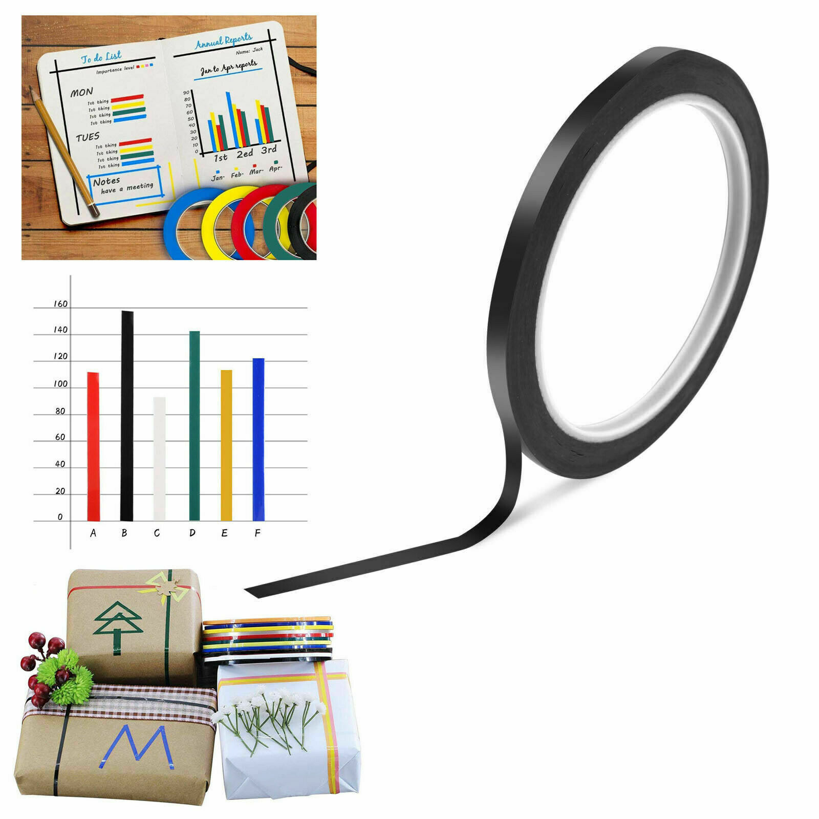 Whiteboard Tape 3Mm Self Adhesive Perfect For Grid Gridding Marking Tape Blue