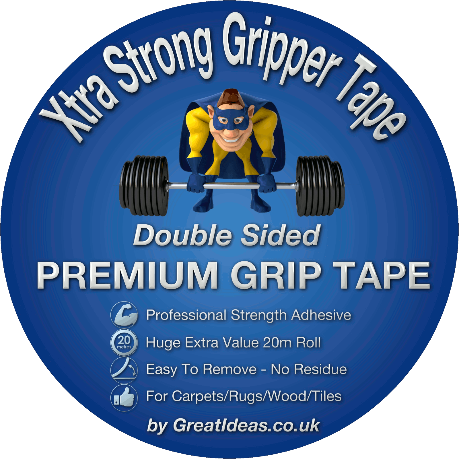 Strong Double Sided Tape Bonding Adhesive Carpet Rug Gripper Mounting Heavy Duty