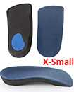 3/4 Orthotic Arch Support Insoles For Plantar Fasciitis Fallen Arches Flat Feet X-Small