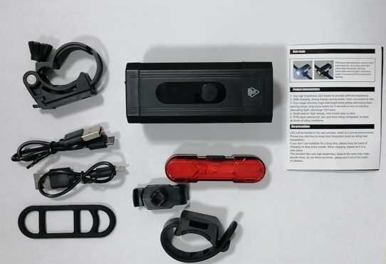 Bike Light USB Rechargeable Bike Light Set 800 High lumen Front and Rear Bicycle Safety Lights Super Bright LED Headlight and Tail Light Waterproof