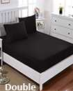 solid double fitted sheet 137*193+15 pillowcase 50*75cm*2