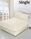 solid single fitted sheet 91*193+15 pillowcase 50*75cm*1