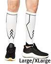 Large Extra Large Compression Socks Pair Travel Sports Running Cycling Calf Pain Relief Shin Foot