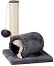 Grey Cat Tree Floor to Ceiling High Scratching Post Tower Activity Centre UK