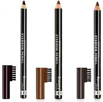 Black Professional Eyebrow Pencil with Brush Comb