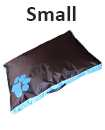 SMALL BLUE DOUBLE SIDED WATERPROOF DOG PET CAT BED MAT CUSHION MATTRESS WASHABLE COVER