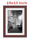 19 Inch By 13 Inch Walnut Photo Frame White Picture Frame Poster Frames