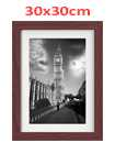 12 Inch By 12 Inch Walnut Photo Frame White Picture Frame Poster Frames