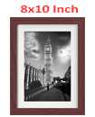8 Inch By 10 Inch Walnut Photo Frame White Picture Frame Poster Frames