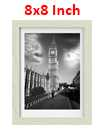 8 Inch By 8 Inch Oak Photo Frame White Picture Frame Poster Frames
