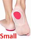 Fast Foot Pain Relief Plantar Fasciitis Gel Heel Support Cushion Insoles Pad Cup RED SMALL