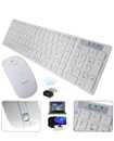 Slim 2.4G Wireless Keyboard and Cordless Optical Mouse Combo For PC