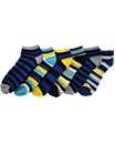 6 Pairs Mens Trainer Liner Ankle Socks Funky Designs Adults Sports  (OPTION 4 )