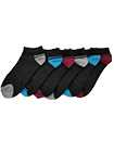 6 Pairs Mens Trainer Liner Ankle Socks Funky Designs Adults Sports  (OPTION 6 )