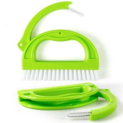 3 IN 1 TILE GROUT CLEANING BRUSH MOULD REMOVER NARROW STIFF SCRUB STAIN CLEANER
