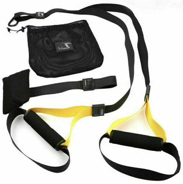 Heavy Duty Hang Trainer Straps Home Gym Fitness Resistance Bands UK Training