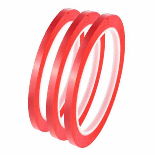 Whiteboard Tape 3Mm Self Adhesive Perfect For Grid Gridding Marking Tape Red