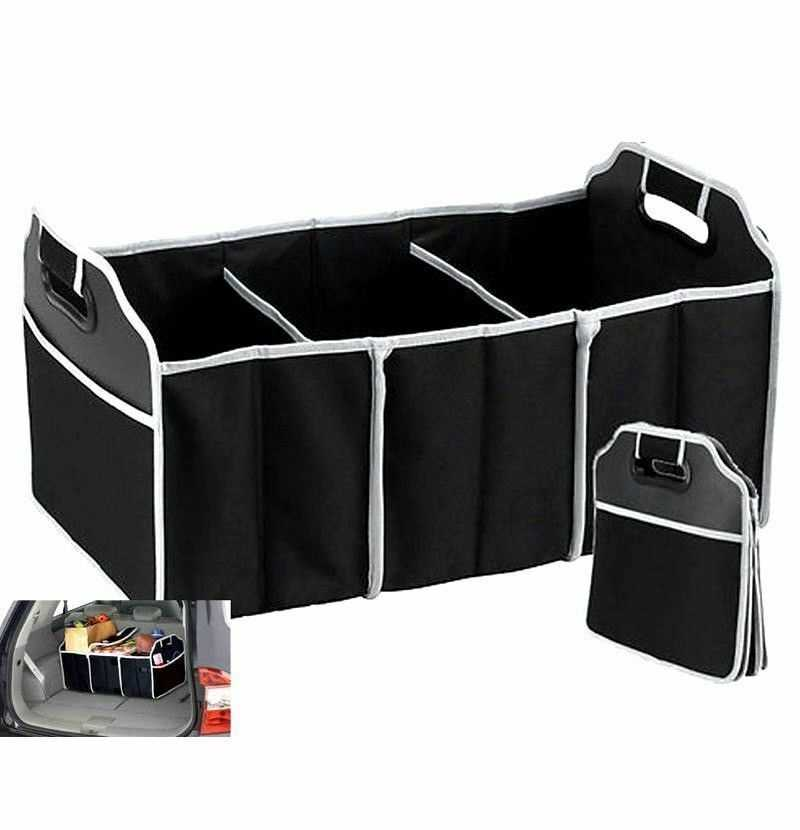 2 In 1 Car Boot Organiser Heavy Duty Collapsible Foldable Shopping Tidy Storage
