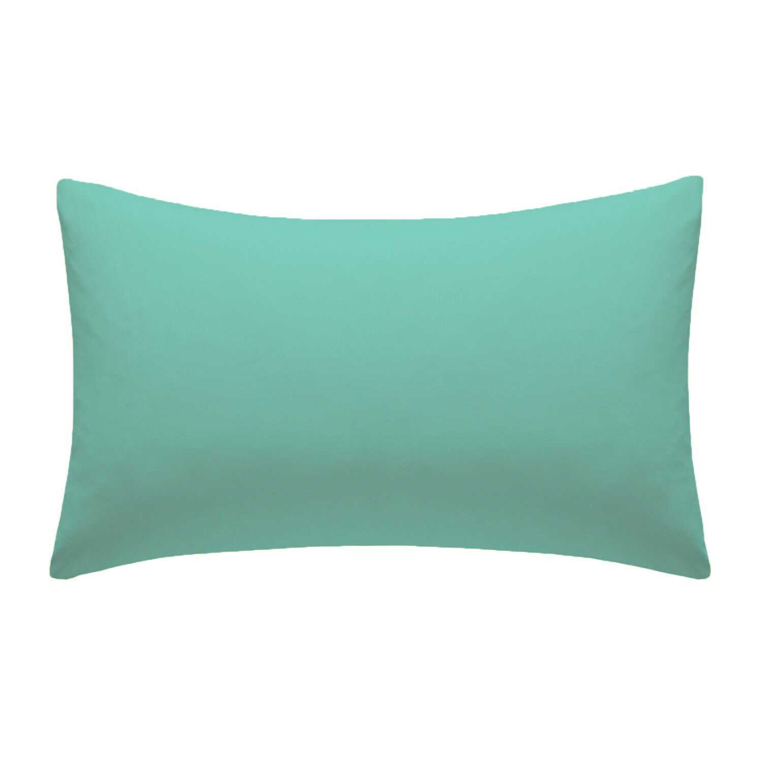 Mint Plain Pillow Cases Cotton Pair Housewife Case Cover 100% Luxury Pack Covers