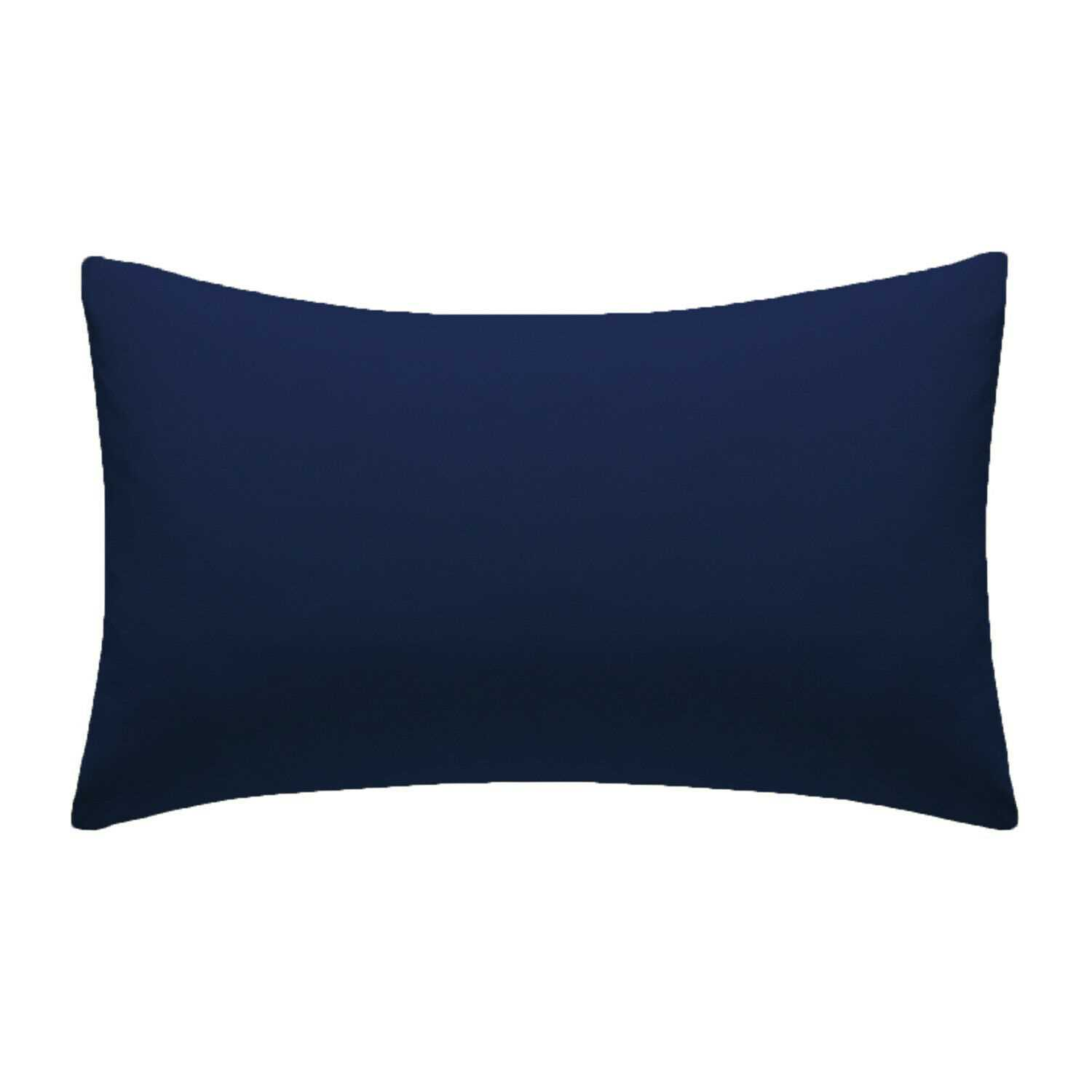 Navy Plain Pillow Cases Cotton Pair Housewife Case Cover 100% Luxury Pack Covers